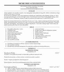 Warehouse Resume Sample Landscaping No Experience Worker Landscape Manager Example Resorts By