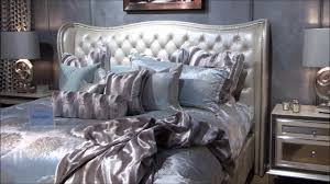 Hollywood Swank Upholstered Bedroom Set in Pearl by Jane Seymour