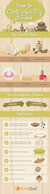 How To Create A Spa Day At Home Infographic
