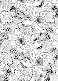 Koi Pond Pattern Free Download Fish PondFish PondsKoi ArtColouring PagesColouring SheetsAdult
