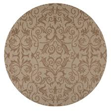 Bella Rug by Home Decorators Collection Bella Taupe 7 Ft 9 In Round Area Rug