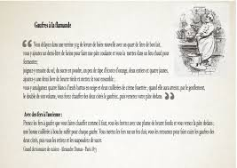 dictionnaire de cuisine la gaufre flamande recette d alexandre dumas