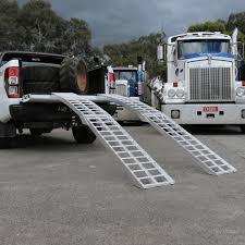 100 Heavy Duty Truck Service Ramps Heeve 23m X 13Tonne Alum Curved Folding Lawn Mower
