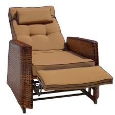 Reclining Lawn Chair With Footrest by Black Polished Iron Porch Chair With Ottoman With Recliner Outdoor