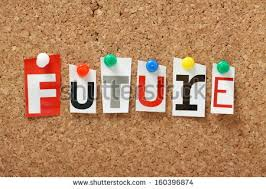 Word Future Cut Out Magazine Letters Stock
