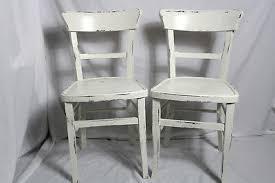 2x bistrostuhl kaffeehausstuhl holzstuhl stuhl weiss vintage