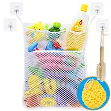 wemk bad spielzeug organizer bad spielzeug netz badespielzeug lagerung badewanne spielzeugnetz mit selbstklebende haken badeschwamm
