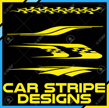 Tribal And Cool Car Stripe Design Set. Adhesive Vinyl Stickers ...