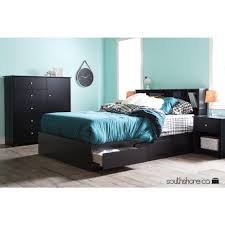 South Shore Soho Double 6 Drawer Dresser by South Shore Vito Pure Black Armoire 3170045 The Home Depot