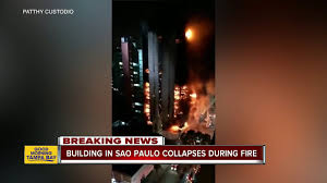 100 San Paulo Apartments Phoenix Building In Sao Collapses During Fire