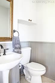Wainscoting Bathroom Ideas Pictures by Tips For Painting Wainscoting Maison De Pax