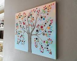 Home Decoration Craft Ideas Crafts For Decor Button Tree Work Diy