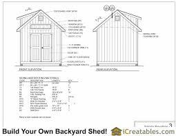 12x12 Shed Plans With Loft by 10x12 Shed Plans With Dormer Icreatables Com