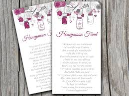 Mason Jar Wedding Honeymoon Fund Card Template