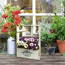 Garden Flower Boxes Country Rustic Window Design Vintage Finish Wood English