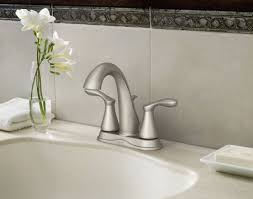 Moen Sage Bath Faucet by Varese Spot Resist Brushed Nickel Two Handle High Arc Bathroom
