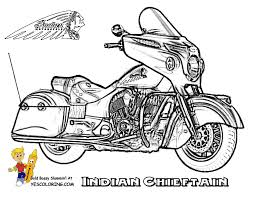 Indian Chieftain Motorcycle Printable At YesColoring