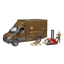 100 Bruder Mack Granite Liebherr Crane Truck MB Sprinter UPS With Driver