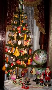 Antique Christmas Feather Fruit Tree