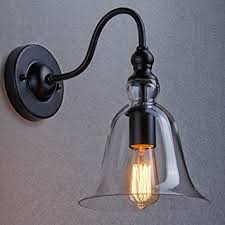claxy ecopower vintage wall mount lighting 1 light glass bell