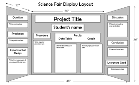 Science Fair Projects Board Layout Project