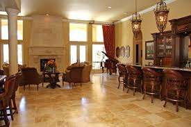 Tile Flooring Ideas For Dining Room Dark Brown Wooden Kitchen Chairs On