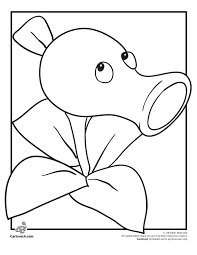 Zombie Peashooter Coloring Page