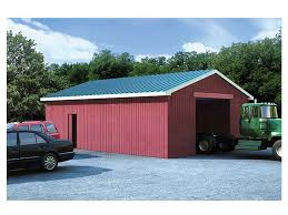 outbuilding plans pole barn plan in multiple sizes design 047b