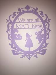 Wall Decor Hand Cut Paper Unframed Alice By NataliesHobbyCraft
