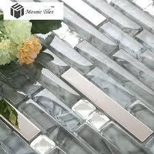 tst glass mental tile glass tile grey stainless steel