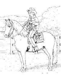 Native Horse Coloring Pages