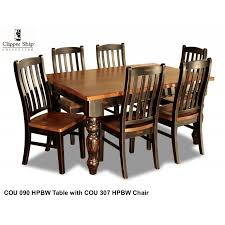 COU 090 Honey Pine Black Wash 60 DINING TABLE Loading Zoom