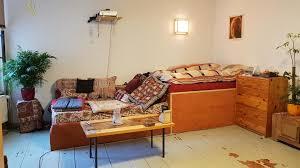 coole sofa bett kombi höhere etage als bett für den