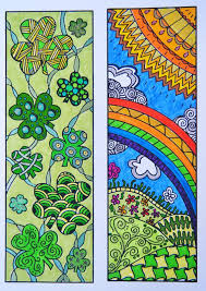 Zentangle Bookmark Flowers To Print And Color