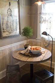 Industrial Floor Lamps Kitchen Rustic With Artwork Distressed Wood Table Image By Debbie Dusenberry Aka CuriousSofacom
