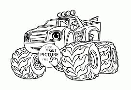 New Blaze Monster Truck Cartoon Coloring Page For Kids ...