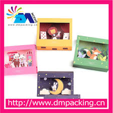 Free Shipping Cartoon Animals Paper Folding Type Greeting Cards With Envelope Lion