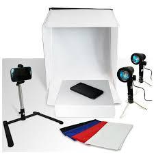 100 Studio Tent Loadstone Photography Photo 20 Light Box Kit 1 X 20 Light 2 X Lights 1 X Camera Tripod 1 X Cell Phone Holder Small