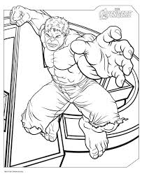 Printable Pictures Avengers Coloring Page 16 On Free Book With