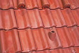 types of roof tiles with various ventilation and fastening