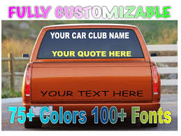 100 Custom Window Decals For Trucks Wind Words And Numbers Personalize