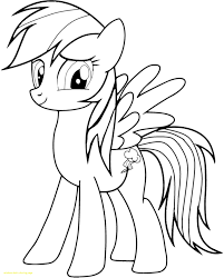 Rainbow Dash Coloring Page With My Little Pony Pages Printable Image Of
