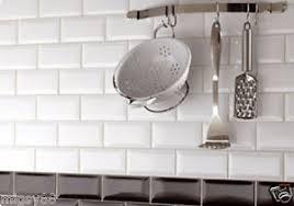 wall tiles gloss white bevel subway tile 150x75mm selling per