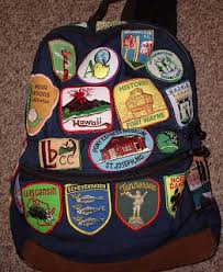 The Third Backpack That I Just Finished Sewing Patches Onto Has Atlas Quest Patch Front And Center This Represents My Boyfriend