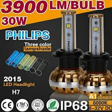 2016 3900lm 30w 3000k 6000k 10000k canbus led headlight