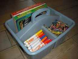 Quick Tip For Organizing Crayons Markers And Coloring Books