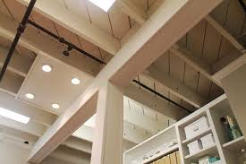 Exposed Basement Ceiling Lighting Ideas by Basements With Exposed Ceilings And White Walls Google Search
