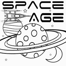 Kids Space Age Free Art Learning Simple Play School Color Pages To Print Coloring Book Moon