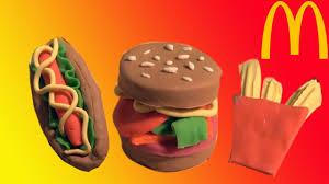 cars pate a modeler toys tuto comment faire un burger un et des frites en