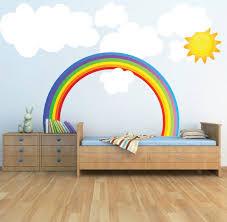 Rainbow Wall Decal Kids Bedroom Rainbows Art
